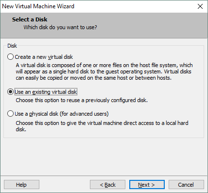 Using the existing virtual disk created during backup export with NAKIVO Backup & Replication