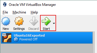 Starting the VirtualBox VM