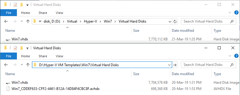 A Hyper-V VM is cloned to a Hyper-V VM template.