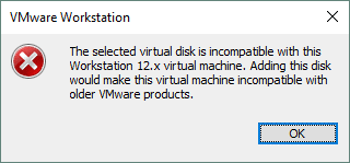 A compatibility issue may occur when opening VMDK files of the ESXi format in VMware Workstation