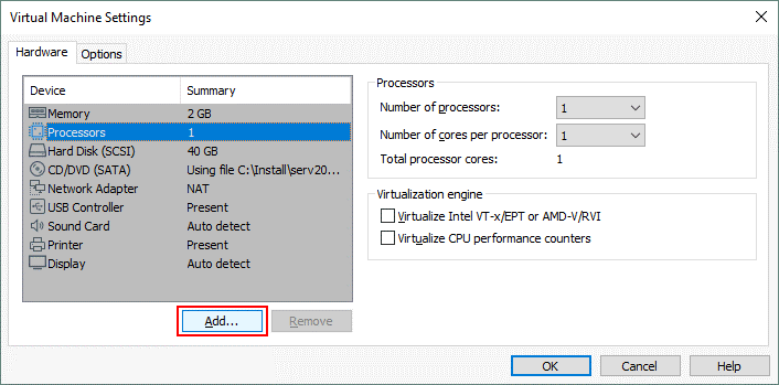 Adding a virtual disk of the ESXi format to a healthy VM in VMware Workstation