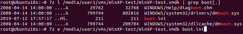 Using 7-zip to extract content from a vmdk file in Linux